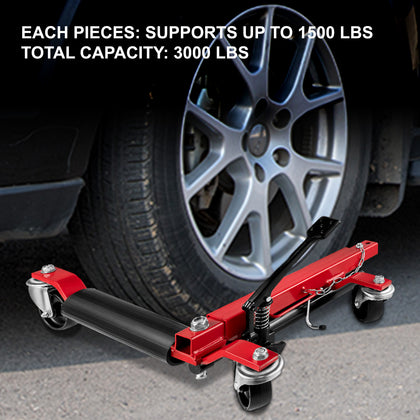 Vevor Wheel Dolly Car Dolly 2 Pcs Car Jack Dolly 3000lbs Tire Skate For Cars