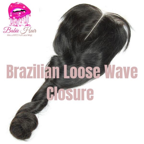 Brazilian Loose Wave Lace Closure - Babie Hair Brazilian Hair Virgin Hair Bundle Hair Virgin Fantasy