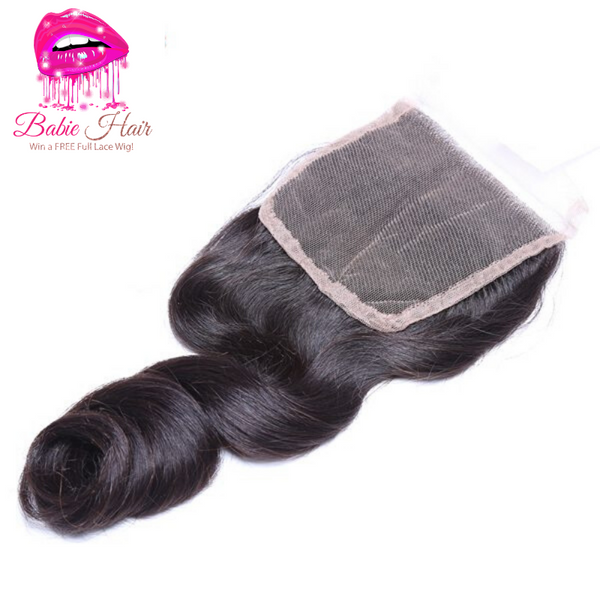 Peruvian Loose Wave Lace Closure - Babie Hair Brazilian Hair Virgin Hair Bundle Hair Virgin Fantasy
