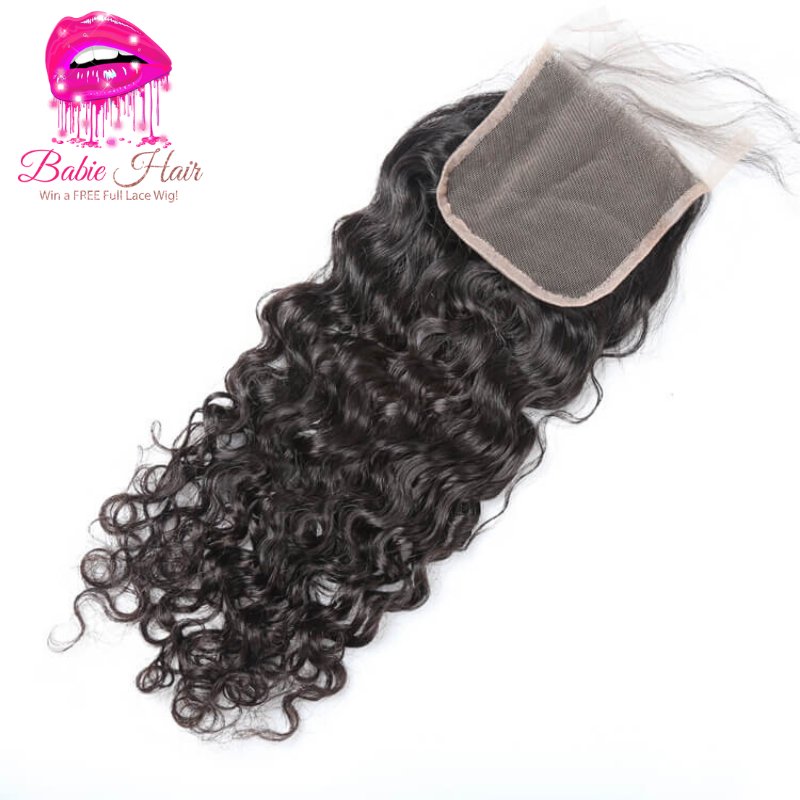 Brazilian Water Wave Closure - Babie Hair Brazilian Hair Virgin Hair Bundle Hair Virgin Fantasy