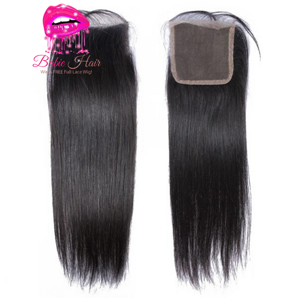Peruvian Straight Lace Closure - Babie Hair Brazilian Hair Virgin Hair Bundle Hair Virgin Fantasy
