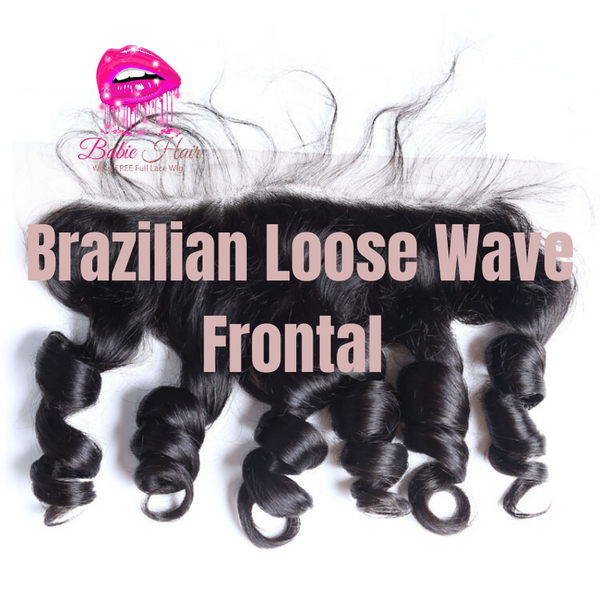 Brazilian Loose Wave Frontal - Babie Hair Brazilian Hair Virgin Hair Bundle Hair Virgin Fantasy