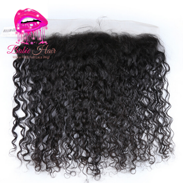Peruvian Water Wave Frontal - Babie Hair Brazilian Hair Virgin Hair Bundle Hair Virgin Fantasy
