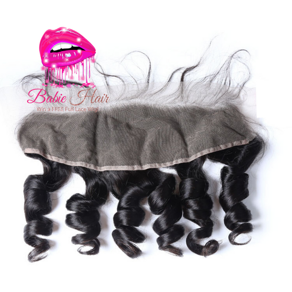 Peruvian Loose Wave Frontal - Babie Hair Brazilian Hair Virgin Hair Bundle Hair Virgin Fantasy