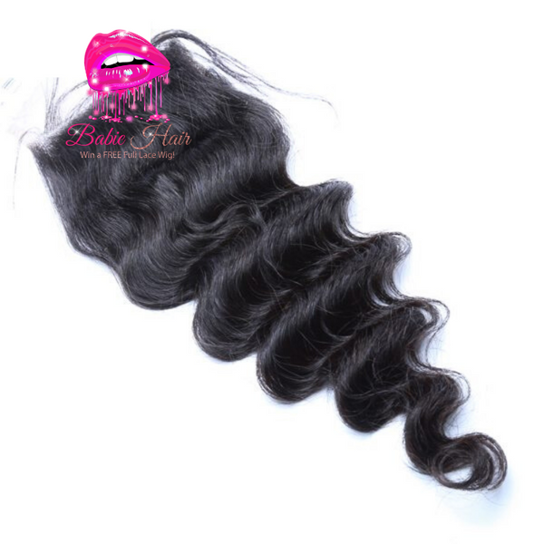 Peruvian Loose Deep Wave Lace Closure - Babie Hair Brazilian Hair Virgin Hair Bundle Hair Virgin Fantasy