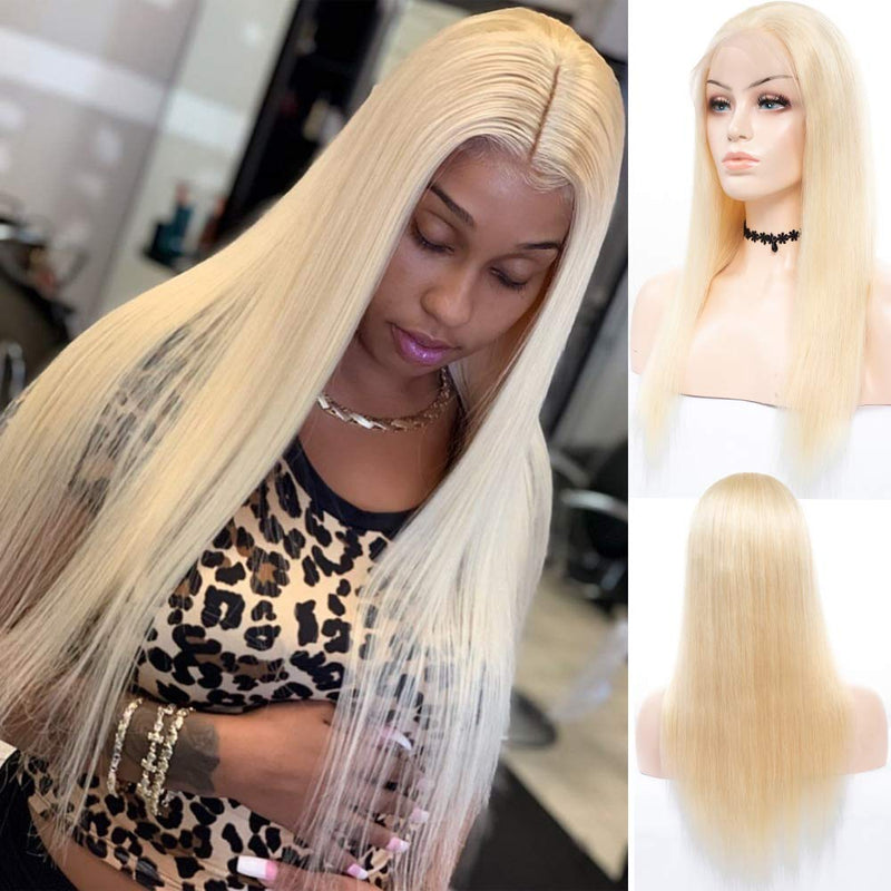 Blonde Straight Full Lace Wig - Babie Hair Brazilian Hair Virgin Hair Bundle Hair Virgin Fantasy