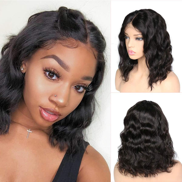 Brazilian Body Wave Bob Full Lace Wig - Babie Hair Brazilian Hair Virgin Hair Bundle Hair Virgin Fantasy