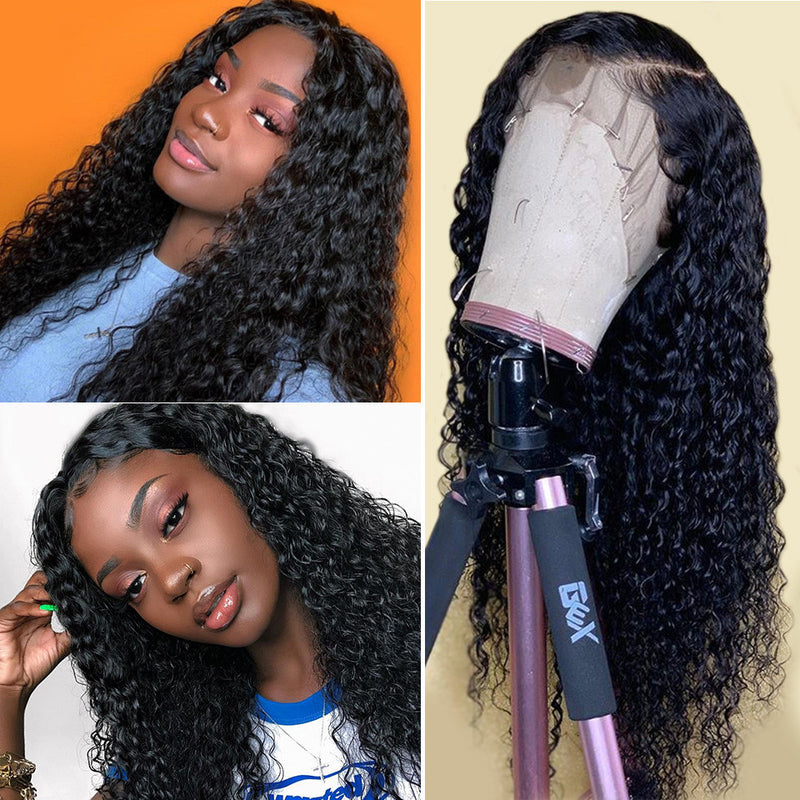Brazilian Deep Wave Lace Front Wig - Babie Hair Brazilian Hair Virgin Hair Bundle Hair Virgin Fantasy