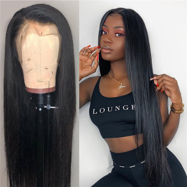 Brazilian Straight Lace Front Wig - Babie Hair Brazilian Hair Virgin Hair Bundle Hair Virgin Fantasy