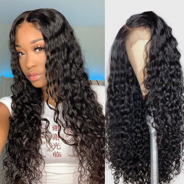 Brazilian Water Wave Full Lace Wig - Babie Hair Brazilian Hair Virgin Hair Bundle Hair Virgin Fantasy
