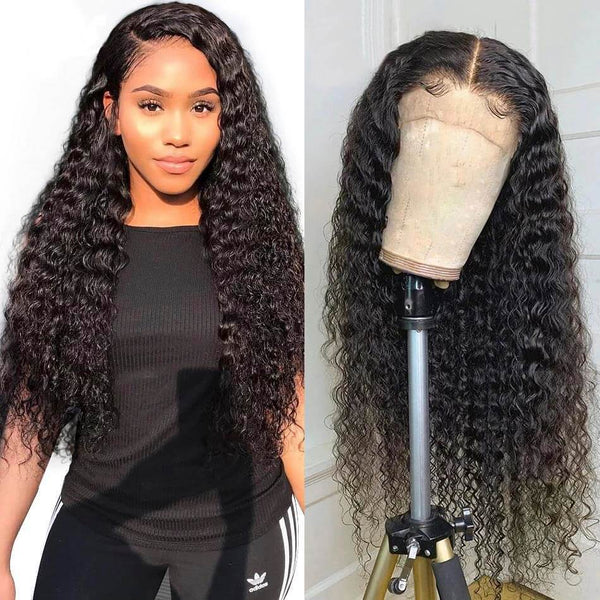 Peruvian Deep Wave Lace Front Wig - Babie Hair Brazilian Hair Virgin Hair Bundle Hair Virgin Fantasy