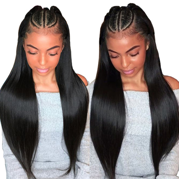 Peruvian Straight Full Lace Wig - Babie Hair Brazilian Hair Virgin Hair Bundle Hair Virgin Fantasy