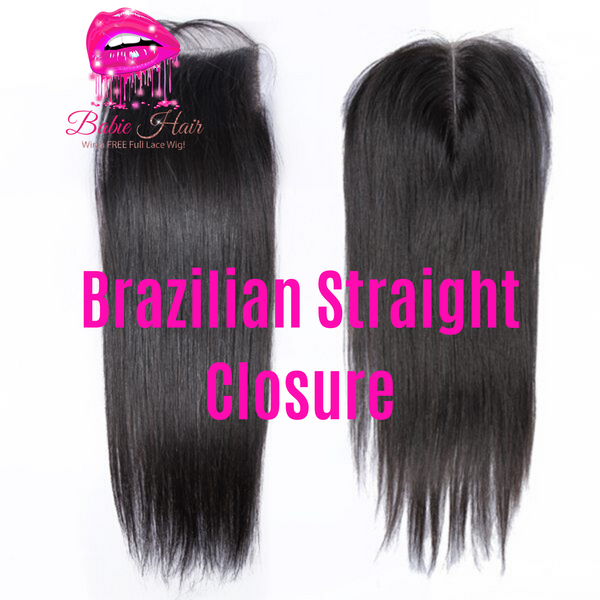 Brazilian Straight Lace Closure - Babie Hair Brazilian Hair Virgin Hair Bundle Hair Virgin Fantasy