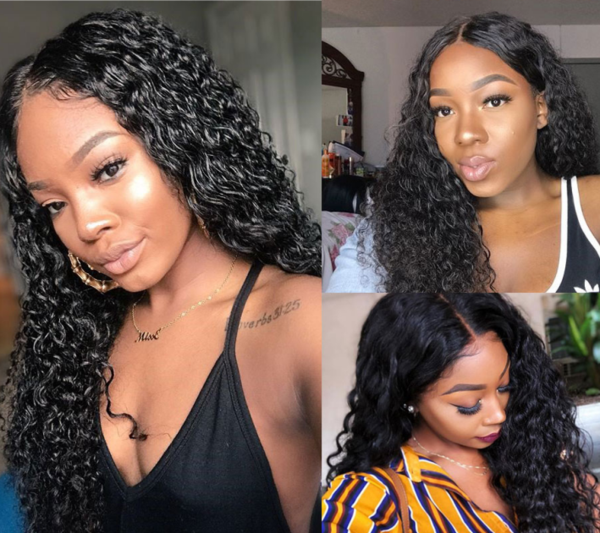 Peruvian Water Wave Lace Front Wig - Babie Hair Brazilian Hair Virgin Hair Bundle Hair Virgin Fantasy