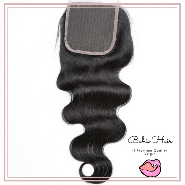 Peruvian Body Wave Lace Closure - Babie Hair Brazilian Hair Virgin Hair Bundle Hair Virgin Fantasy