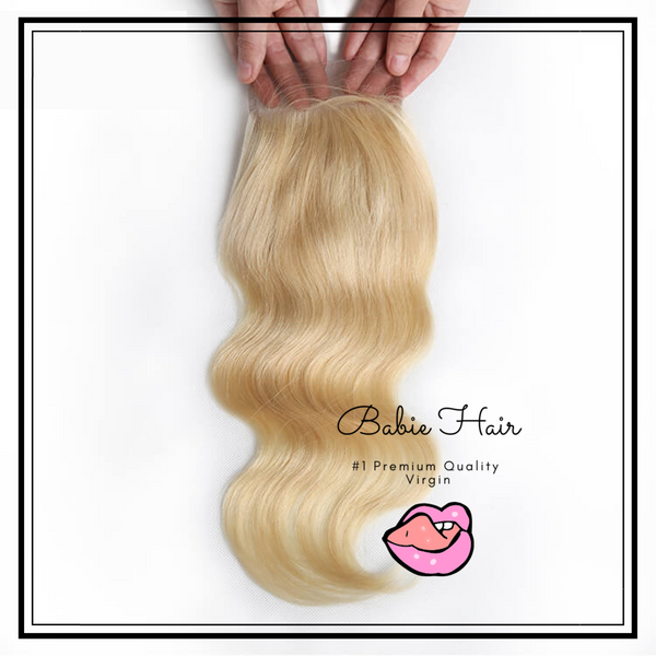 Blonde Body Wave Closure - Babie Hair Brazilian Hair Virgin Hair Bundle Hair Virgin Fantasy