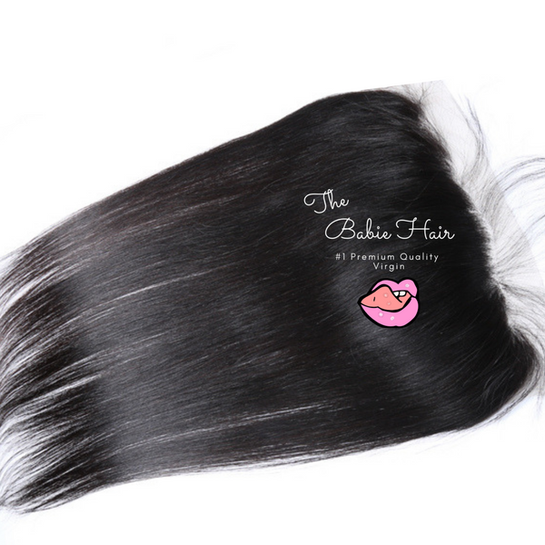 Peruvian Straight Lace Frontal - Babie Hair Brazilian Hair Virgin Hair Bundle Hair Virgin Fantasy