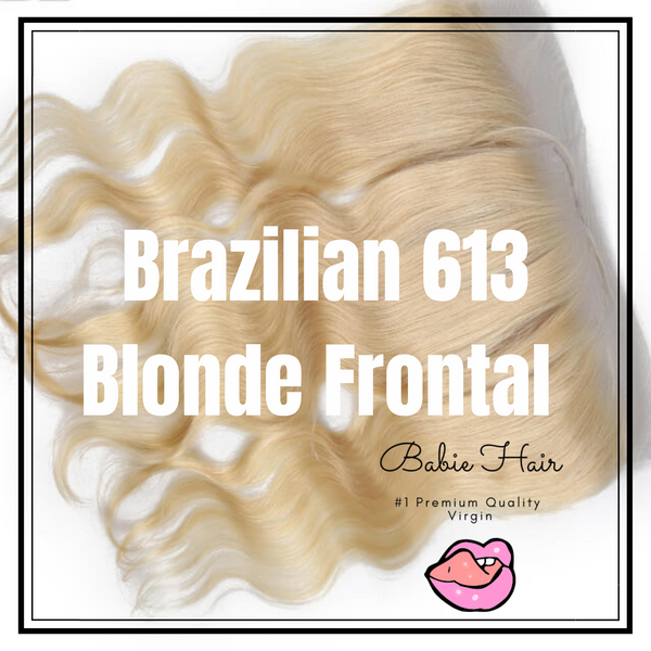 Blonde Body Wave Frontal - Babie Hair Brazilian Hair Virgin Hair Bundle Hair Virgin Fantasy