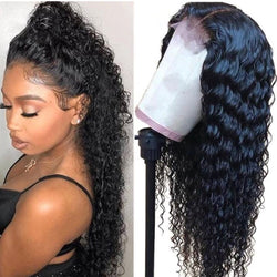 Brazilian Deep Wave Full Lace Wig - Babie Hair Brazilian Hair Virgin Hair Bundle Hair Virgin Fantasy