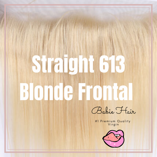 Blonde Straight Frontal - Babie Hair Brazilian Hair Virgin Hair Bundle Hair Virgin Fantasy