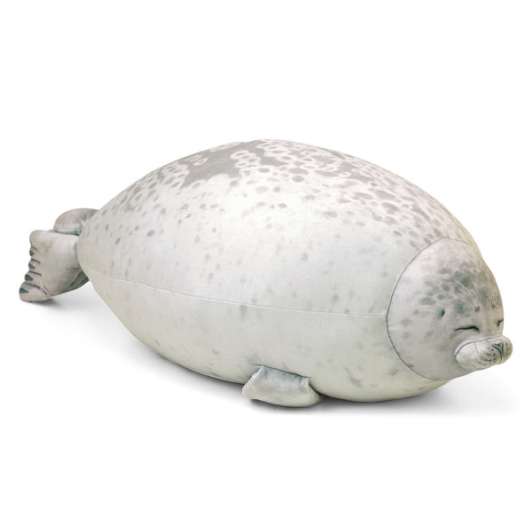 Sleepy Satisfied Seal Pillow