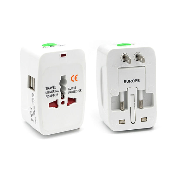 Universal Worldwide International Power Adapter Electric Socket With USB (USA/UK/SG/EU/AUS/JP)