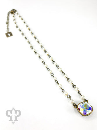 Aurora Crystal & Pearl Necklace