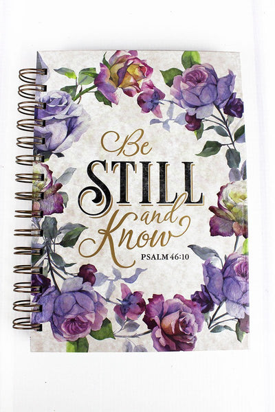 Be Still and Know Floral Large Wire Bound Journal
