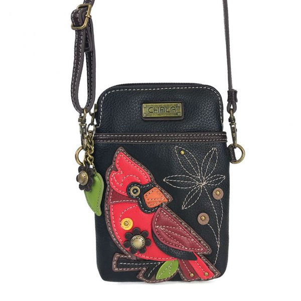 Cardinal Cellphone Crossbody Handbag