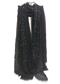 Black Embellishments Scarf