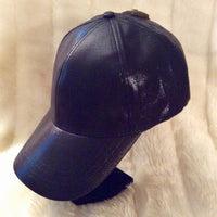 Ladies Black Brushed Satin Hat