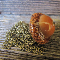 Large Woodland Acorn Necklace