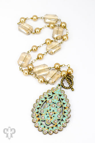Santa Fe Teardrop Toggle Necklace