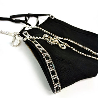 Stars Of Midnight Couture Mask and Rhinestone Chain