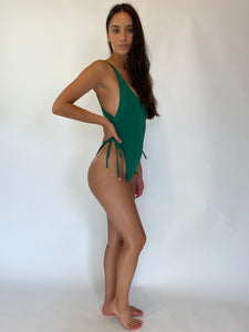 cinched side one piece