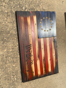 """Revolutionary"" Rustic Betsy Ross Flag"
