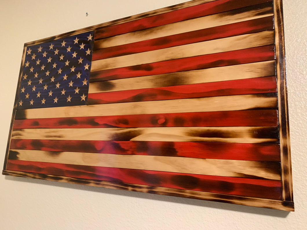 Traditional Rustic American Flag