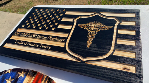 "The ""Devil Doc"" green-side Corpsman Flag"