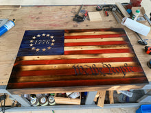 "Load image into Gallery viewer, ""Revolutionary"" Rustic Betsy Ross Flag"