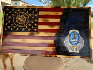 USS Iowa Tribute flag