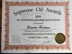Lavender Essential Oil - GOLD Medal Winners for 2018 -Award Package
