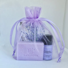 A Great Gift - Lavender Essential Oil & 2 soaps in a sachet