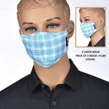 Donear 2 Layer Casual Mask<br>Pack of 3