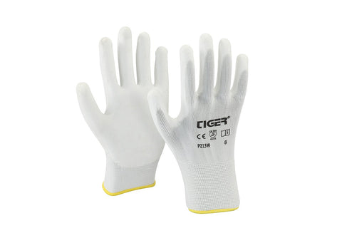 P213W Tiger PU Coated Hand Gloves