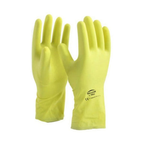 L1520 Mallcom Rubber With Flock Hand Gloves