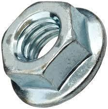 Metric Zinc Plated Flange Nuts <br> Pack of 1000