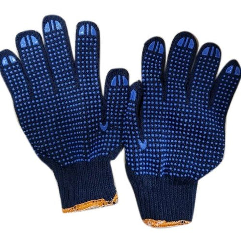 Hand Gloves Dotted Blue