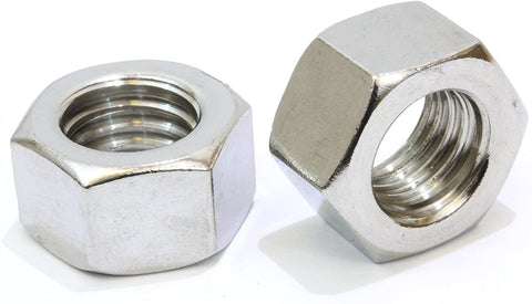Inch 304 Stainless Steel Hex Nuts <br> Pack of 100