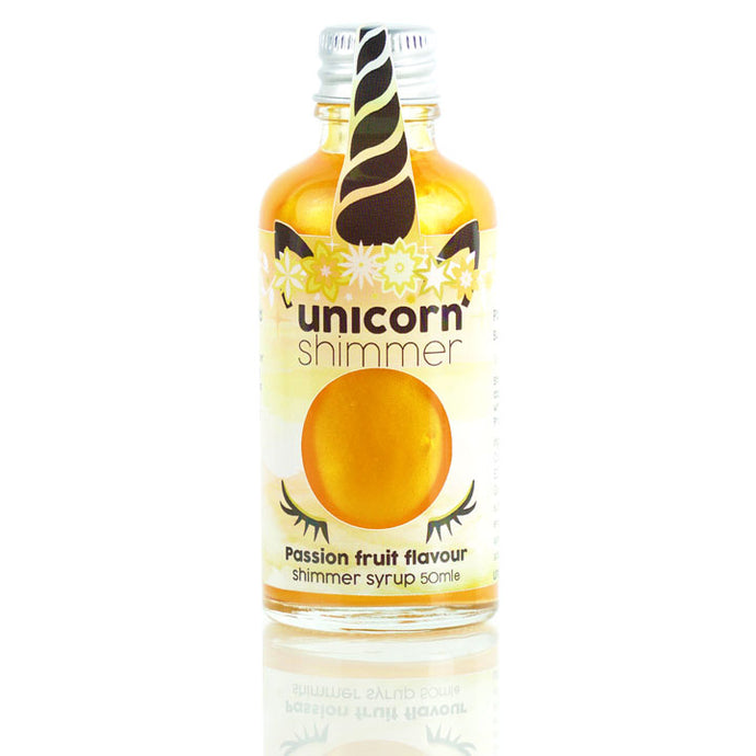 Passion fruit flavour unicorn shimmer syrup