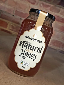 1kg Honey Cube RAW NATURAL
